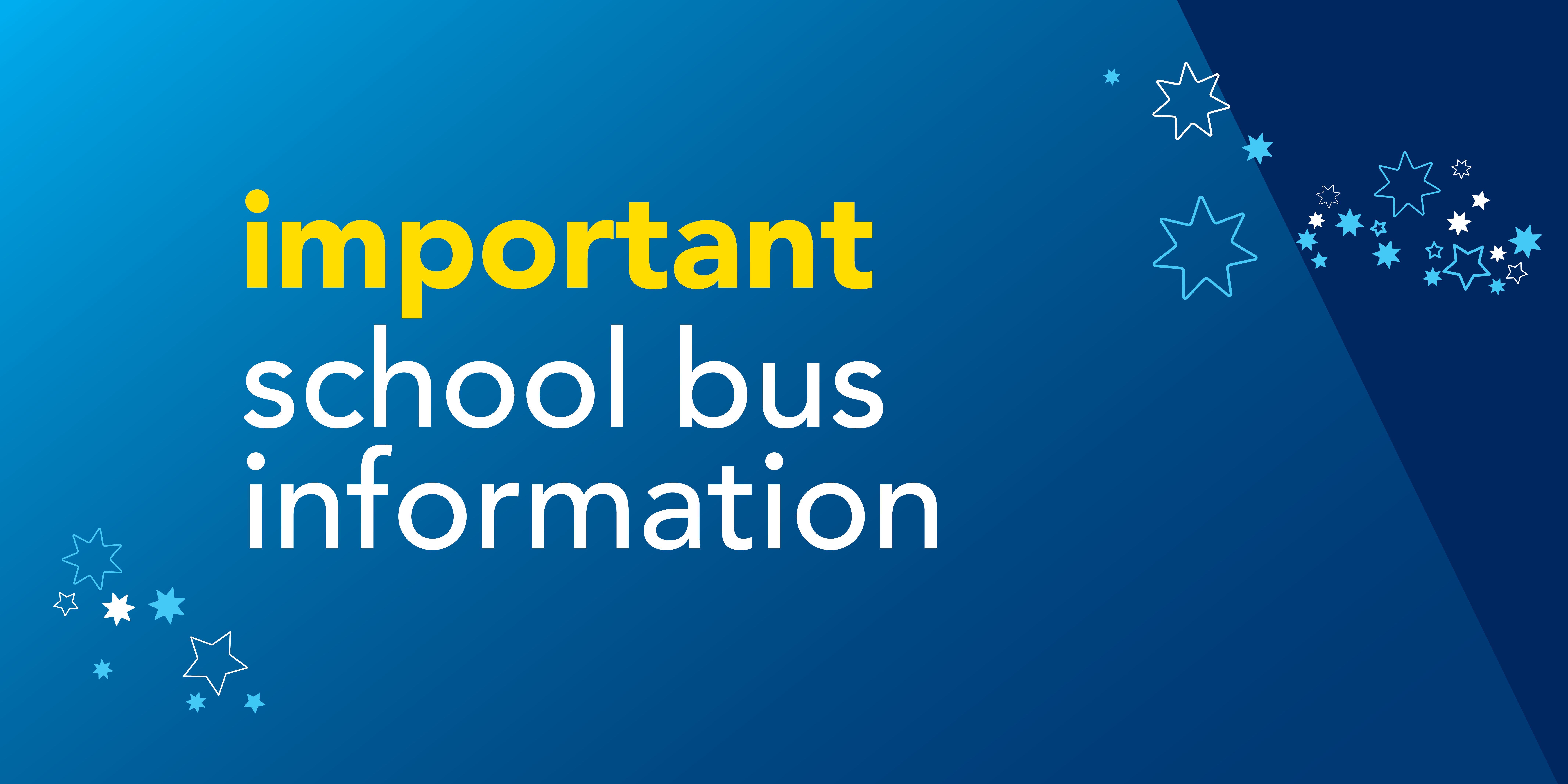 Image saying 'important school bus information'