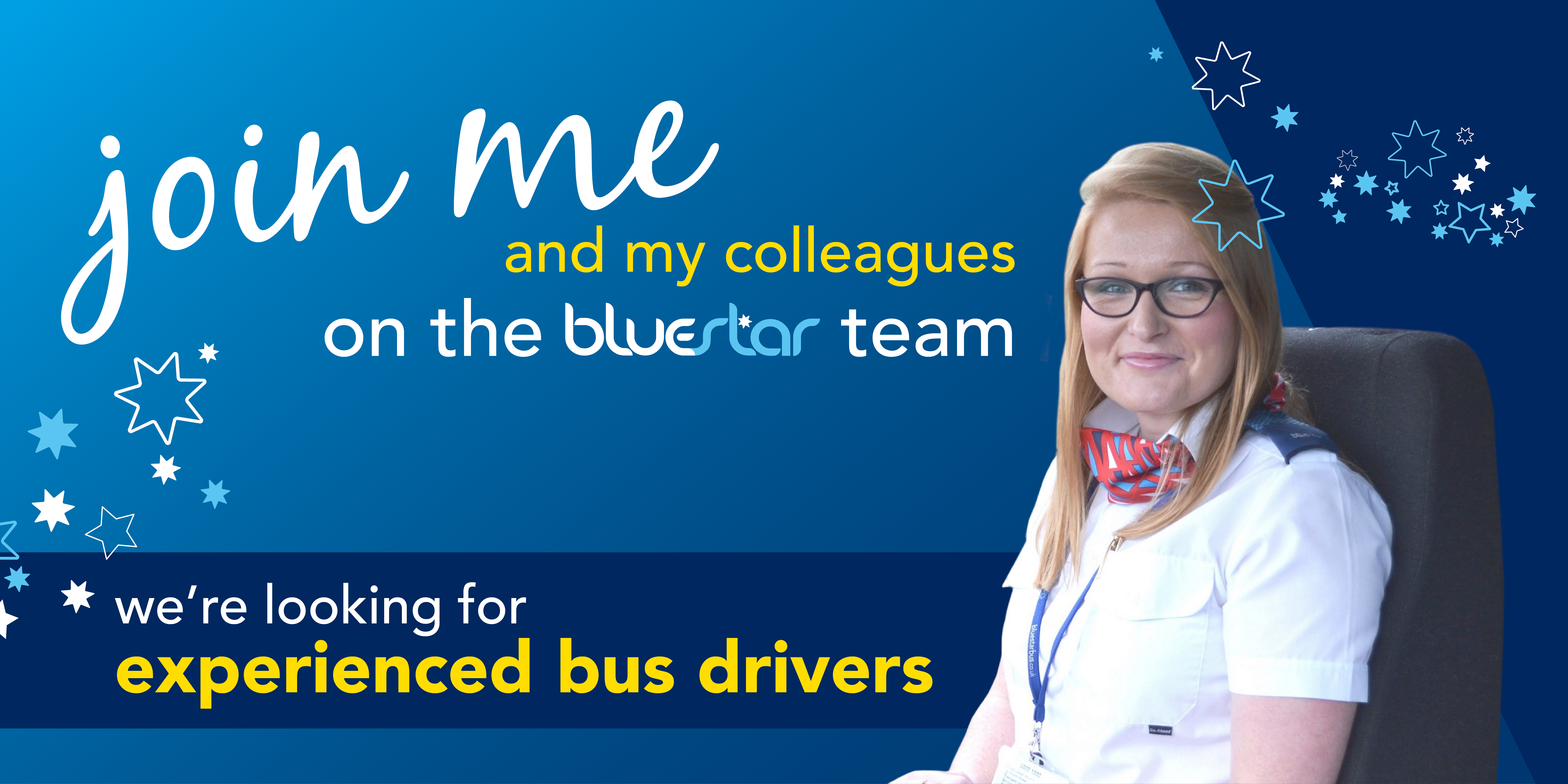 A promotional image to highlight our vacancies for experienced bus drivers