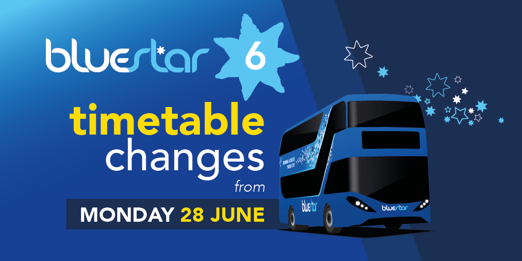 A promotional image for timetable changes