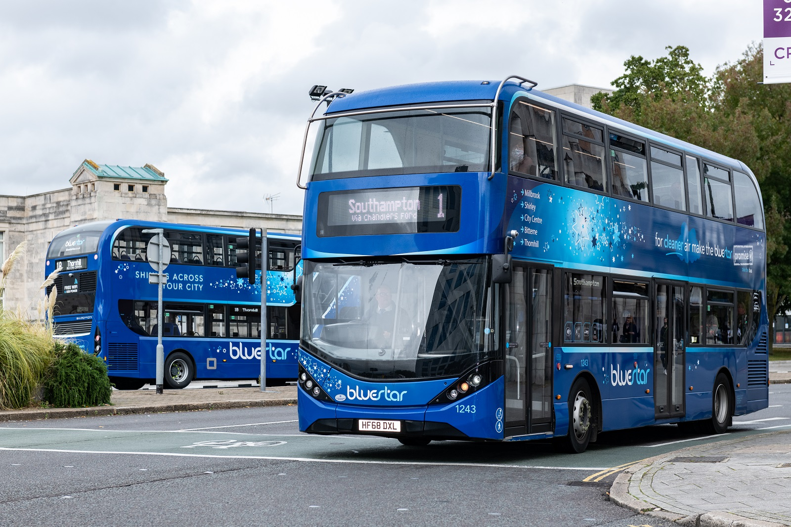 Photo of two bluestar buses